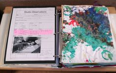 Portfolios: Each child has their own portfolio binder, which is updated routinely by his/her classroom teachers.  The portfolio is a compilation of pictures, quotes, artwork, writing samples (if applicable), and information regarding developmental milestones that chronicles each individual child's growth and development at Compass.  Each portfolio is accessible in the classroom and parents can reference it at any time to gather information about their child's early learning experiences.