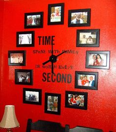 Love this idea for a wall!