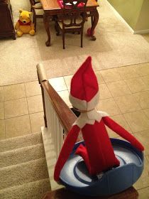Elf likes to slide!