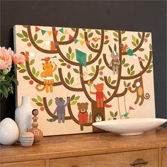 Tree Party Jumbo Wood Panel Print