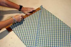 Best tutorial ever! For How to cut fabric on the bias for bias strips