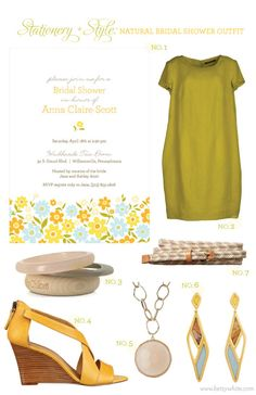 Stationery + Style: Natural Bridal Shower Outfit