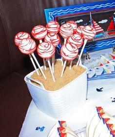 Nautical cake pops! #cakepops #nautical