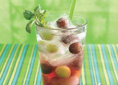 spring spritzer, ice cubes, charms, spring punch, food, drink, juices, beverag, spritzer recip