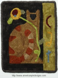 Chairman Meow Rug Hooking Pattern or Kit by Melanie Pinney and American Pie Designs
