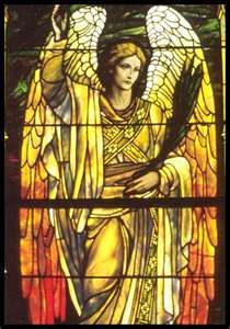 stainedglass, rose quartz, glasses, archangel gabriel, glass angel, archangel haniel, stain glass, angels, stained glass