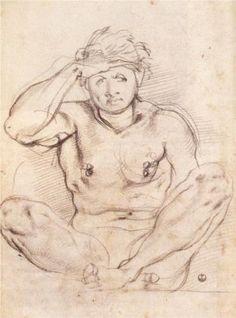 Study for Vertumnus and Pomona - Jacopo Pontormo