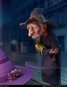 "Old hag by Nikita Veprikov on http://www.freshcharacters.com the widows that got burnt at the stake in Salem MA around the time the USA was started, nothing but the ""crime of being old"" and trying to cure with herbs loving the toad"