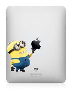 Minion iPad decal
