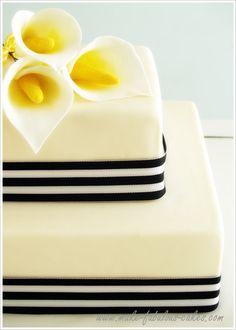 Calla cake...how to make gum paste calla lily
