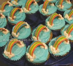 Rainbow Cupcakes ... maybe use something like this to go along with the Noah's Ark 1st B-day theme for our future child/children
