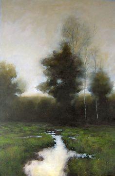 Original Oil Painting Landscape Tree Art by J Shears