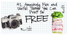 Free printable items