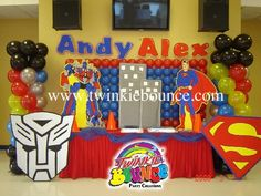 transformers birthday party balloon decoration