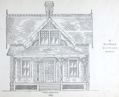 6-Room Cottage house plan from 1884 Leffel's House Plan book.