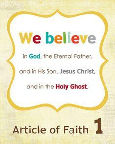 Articles of Faith Printables