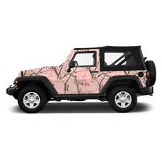 pink camo car - Bing Images Yes I think this is my next Jeep!!!