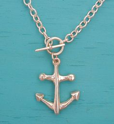 Anchor necklace by tiffany's.