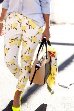 Dressed colourfully in yellow and blue #shopathomejcpcontest