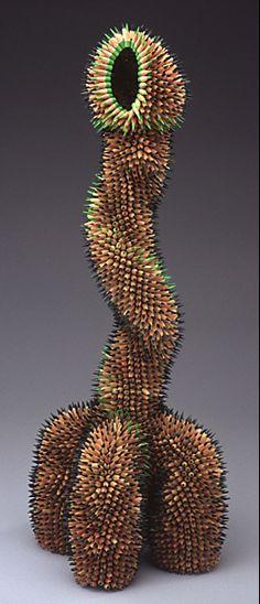 Pencil sculpture by Jennifer Maestre