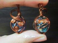 HOW TO...Wire wrap a marble. Pictorial - Step 18