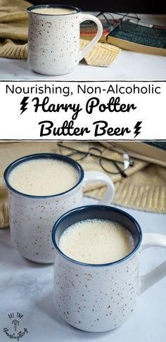 Nourishing Non-Alcoholic Harry Potter Butter Beer (with dairy-free option!)