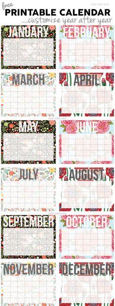 Free Calendar! Print