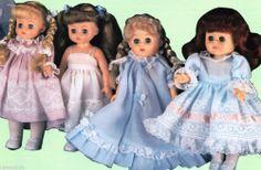 "Ginny Wardrobe Pattern 1987 Martha Pullen French Hand Sewing Heirloom 8"" Dolls"