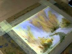 Edyta Nadolska - watercolor painting demo / part 1 Painting 'wet in wet'