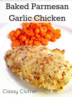 Baked Garlic Parmesan Chicken on MyRecipeMagic.com
