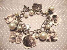 FREE SHIPPING - Personalized Custom Family Photo Bracelet