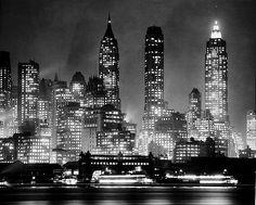 Manhattan skyline, 1947, photo by Andreas Feininger