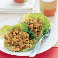 Spicy Ginger Chicken in Lettuce Cups - use Truvia instead of sugar