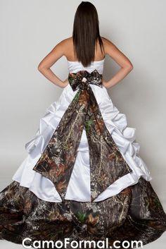 Camo wedding dress, I think so!