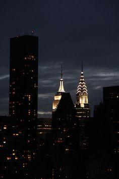 new york at night.