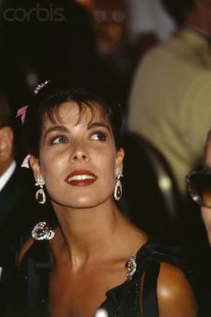 Carolina en un Baile de la Cruz Roja en los años 90.