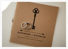 keys and kraft paper