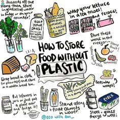 Ever wondered how to store food without plastic?🍞🍅🍌 . Here are some useful tips to deplastify your life with very little effort😊 . 📸…