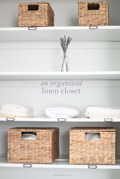 simple tips to keep your linen closet pretty and tidy