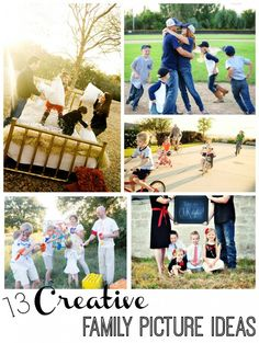 Love these ideas! Here are 13 creative ways to take a family photo from Capturing Joy with KristenDukePhotography.com
