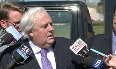 Clive Palmer has hit out at a Guardian journalist's line of questioning, saying he didn't think she was 'very bright'. Reporter Bridie Jabour twice asked the Palmer United party leader if reports he had called his PUP senator Jacqui Lambie 'not very bright' were true. Palmer denied the reports and told Jabour he would not talk to her if she did not keep quiet while he was answering