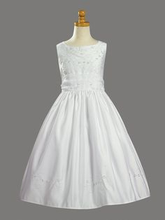 Beaded First Communion Gown fe046 $65.00