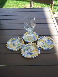 """Sharon's Eclectic Retreat: Free Crochet Pattern for """"Coasters in the Round"""""""