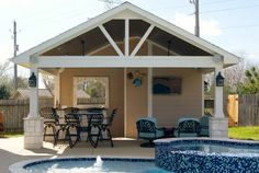 Project of the Month: May 2014 - Beach Style - Patio - Houston - Texas Custom Patios