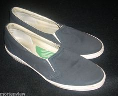 WOMENS-NAVY-BLUE-GRASSHOPPERS-STRETCH-COMFORT-CUSHION-FLATS-WALKING-SHOES-9-M