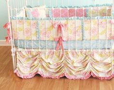 """Custom Baby Crib Bedding -  """"Fly Away With Me""""  couture cribset"""