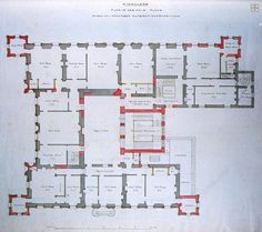 Highclere Castle floor plan.