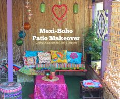 Mexi-Boho Patio Makeover, my finished patio!