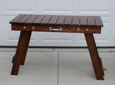 48 Folding Grill Table Stained and by Midwestclassiccrafts on Etsy