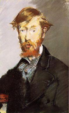 Portrait of George Moore by Edouard Manet #art georg moor, metropolitan museum, art, book, edouard manet, édouard manet, irish, portraits, writer
